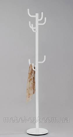 Вешалка для одежды металлическая напольная CH-4464 белая, фото 2