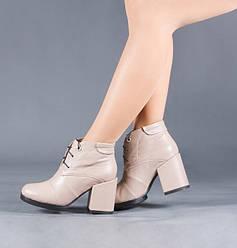 Кожаные женские ботинки на каблуке. Деми, зима. Каблук 9 см. Цвет любой