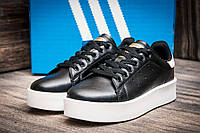Кроссовки женские Adidas Stansmith, черные (2489-3),  [  37 (последняя пара)  ]