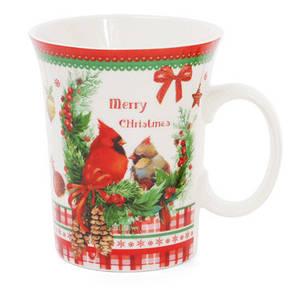Кружка фарфоровая Рождество 310 мл 4 вида, в упаковке 12 шт. (283-101), фото 2