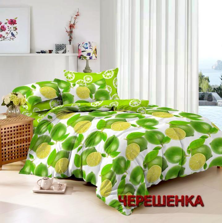 Двуспальный набор постельного белья 180*220 из Сатина №003 Черешенка™