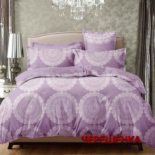 Двуспальный набор постельного белья 180*220 из Сатина №005 Черешенка™