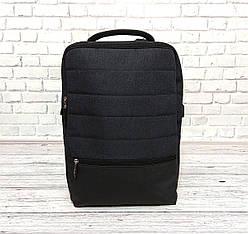 Рюкзак в стиле Shaolong с отделом для ноутбука и USB темно серый