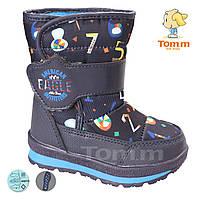 46957a147 Дутики водонепроницаемая обувь для мальчиков и девочек малые размеры 23-28  оптом
