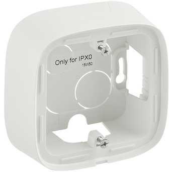 Одноместная коробка для накладного монтажа - 94 x 94 x 448 мм - Valena Allure - белый