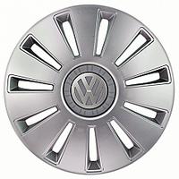 R15 Колпаки на колеса диски для дисков R15 серые Silver (Volkswagen, Фольксваген) колпак K0403