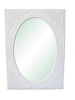 Зеркало  Анжелика белое вертикальное