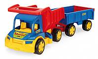 Большой игрушечный грузовик Гигант + тележка (65100)