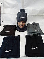 Комплект мужской шапка + шарф оптом
