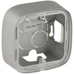 Одноместная коробка для накладного монтажа - 94 x 94 x 448 мм - Valena Allure - алюминий