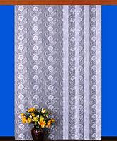 """Гардинное полотно """"Аленький цветочек"""" (белый), ширина 150 см"""