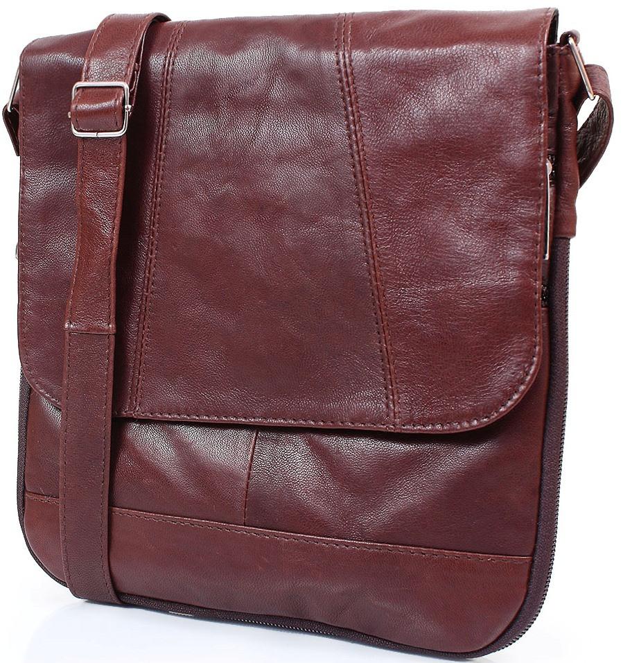 89970f349504 Мини-почтальонка TUNONA SK2412-10 из натуральной кожи, женская, коричневая