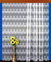 """Гардинное полотно """"Королевская бахрома"""" (белый), высота 300 см"""