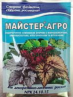 Мастер-Агро для декоративно-лиственных растений (NPK 24.10.15) 25 г
