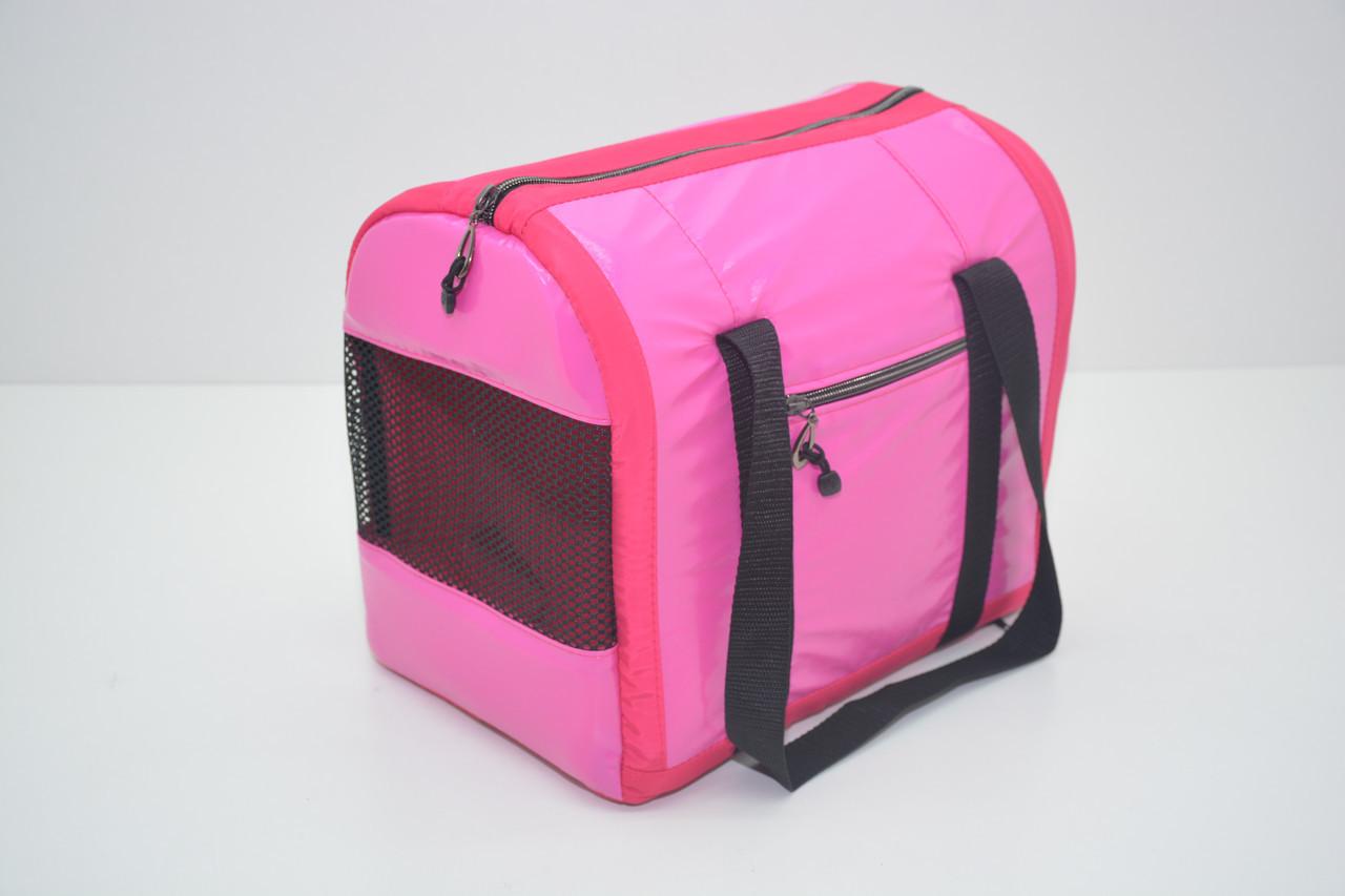 Сумка-туннель Диско для переноски котов и собак розовая