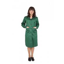 Халат рабочий женский, зеленый