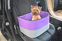 Автосумка гамак для перевозки и переноса собак и котов Гармония фиолетовая, фото 1