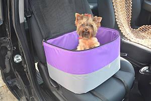 Автосумка гамак для перевозки и переноса собак и котов Гармония фиолетовая