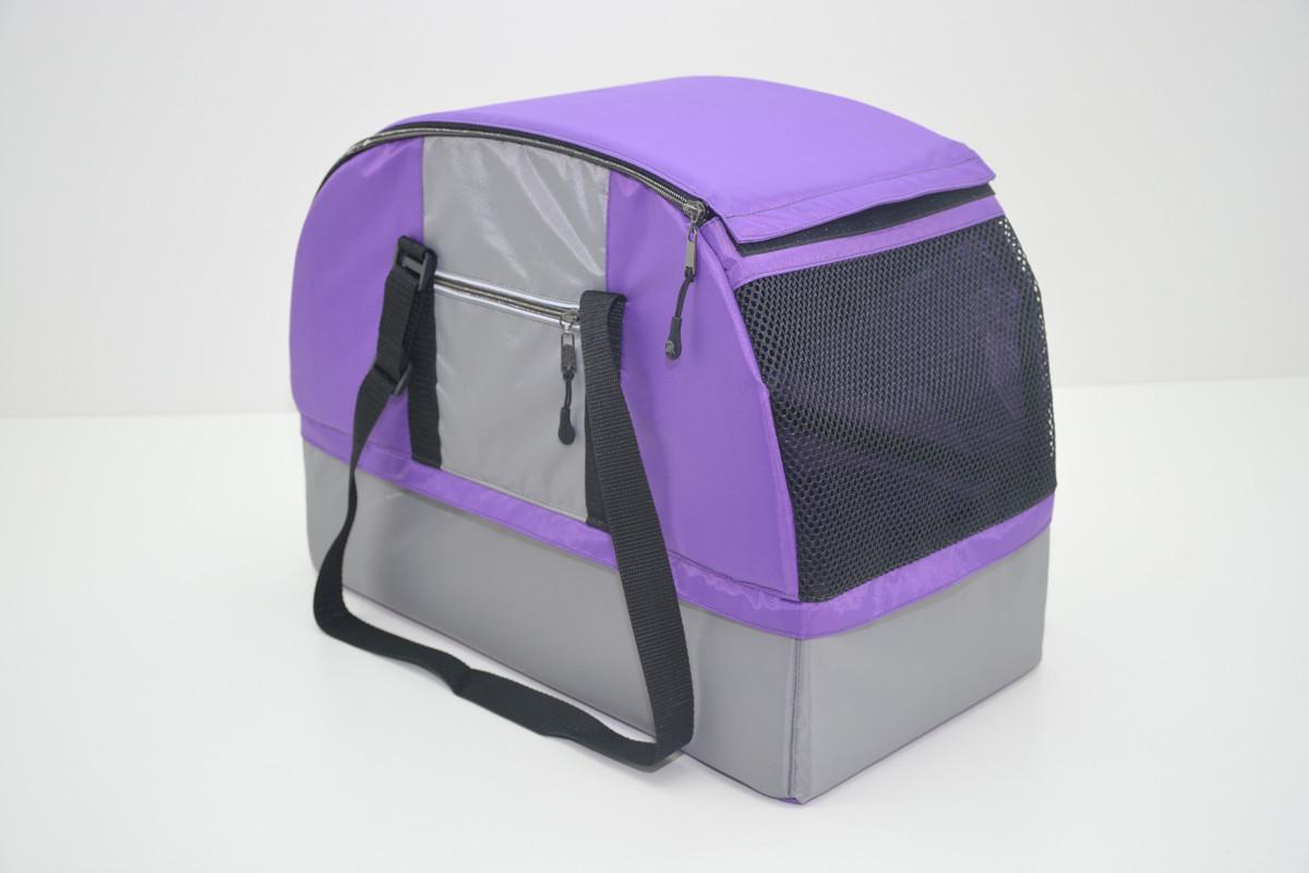 Сумка переноска лежак 2 в 1 для собак и котов Гармония фиолетовая
