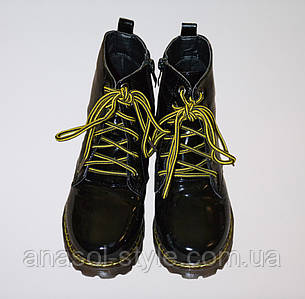 Ботинки детские на девочку Style-baby-Clibee лаковые черные