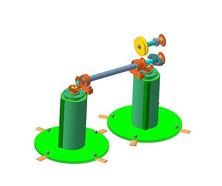 Косилка роторна мототракторна КР-1,1 ПМ-2, фото 2
