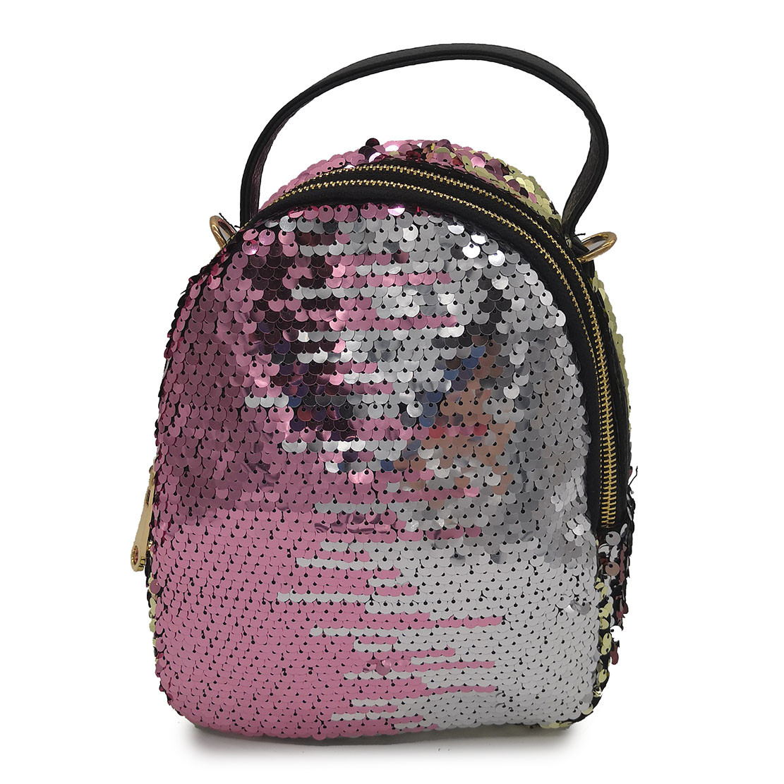 Рюкзак в паетках разноцветный