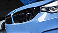 Черная сдвоенная решетка BMW F30 в стиле M3, фото 4