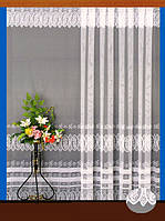 """Гардинное полотно """"Скандинавские узоры"""" (белый, голубой), высота 295 см"""