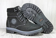 Зимові підліткові високі черевики натуральний нубук Alexandro