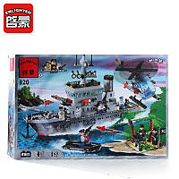 Конструктор Brick Enlighten 820 Военный корабль - Фрегат 614 деталей, фото 1