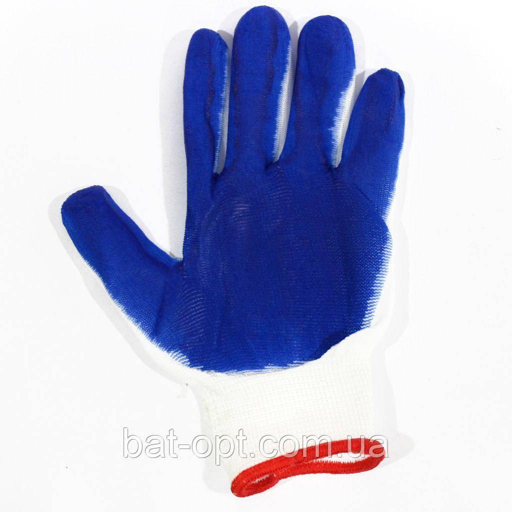 Перчатки синие синтетические (12пар)