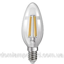 Лампа диммируемая  Светодиодная филаментная свеча   NX4СFD - E14  3000k/4200k