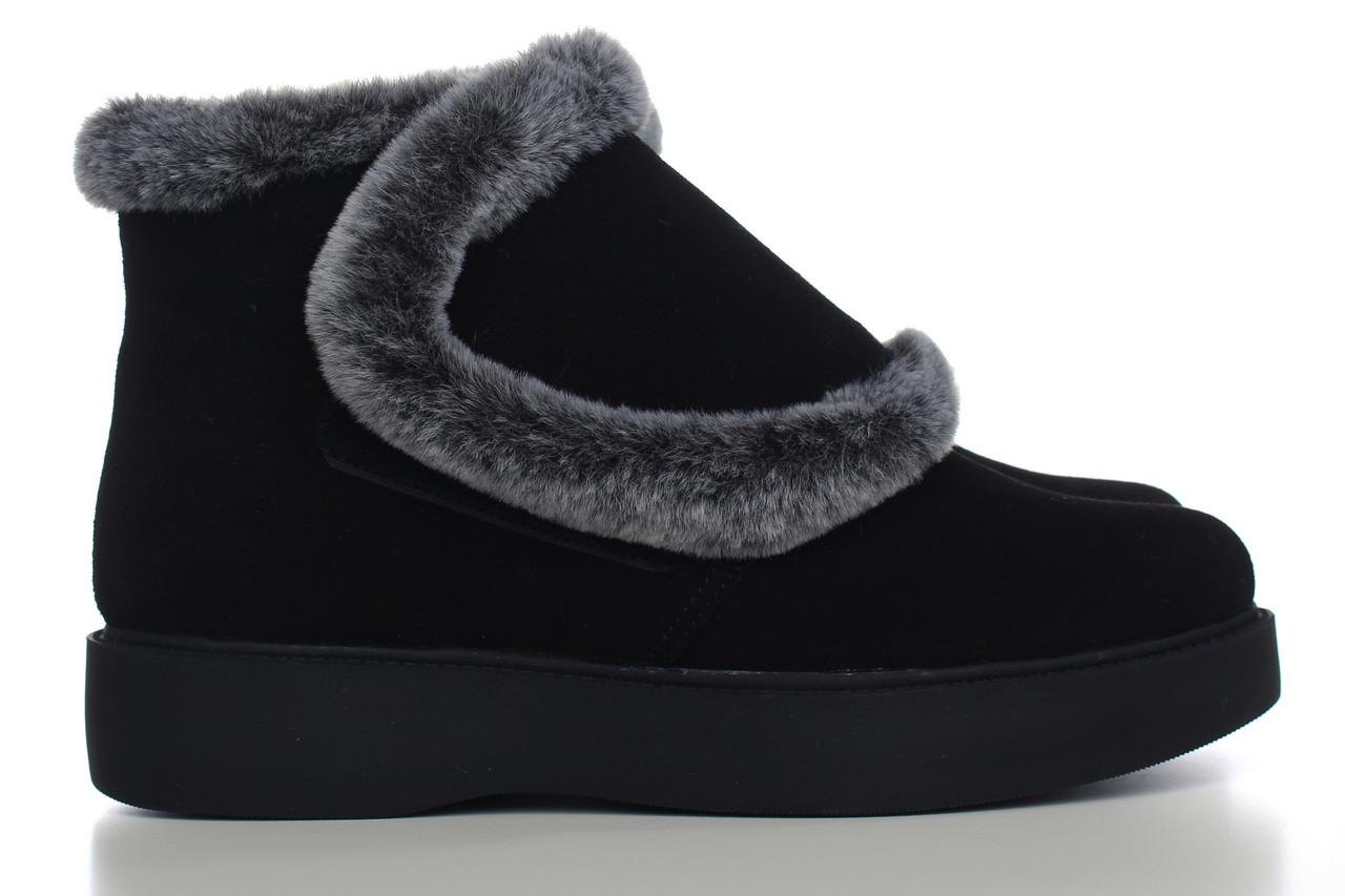 VM-Villomi Ботинки на липучке с мехом черного цвета