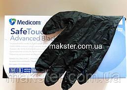 Черные нитриловые перчатки  Медиком SafeTouch Advanced Black(100 шт)