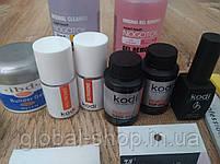 Стартовый набор для наращивания ногтей Kodi (41 предмет) 2 вида геля на выбор, фото 5