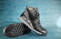 Ботинки подростковые черные кожаные Timberland копия