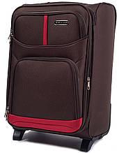 Малый чемодан Wings 206-20-2 коричневый 45 л  тканевый