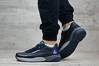 Мужские кожанные кроссовки Jordan, Натуральная кожа, Темно-синие