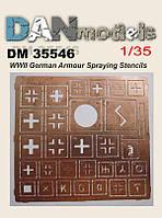 Знаки обозначения немецкой бронетехники времен II МВ. 1/35 DANMODEL DM 35546