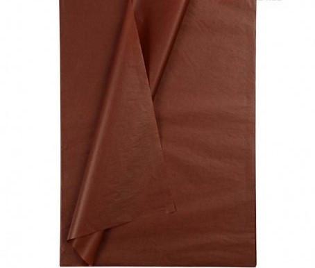 Бумага тишью  100 листов коричневая Китай 50х66 см.