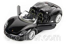 Машинка р/у 1:24 Meizhi лиценз. Porsche 918 металлическая (черный)