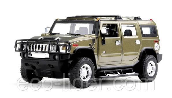 Машинка радиоуправляемая 1:24 Meizhi Hummer H2 металлическая (темно-зеленый)