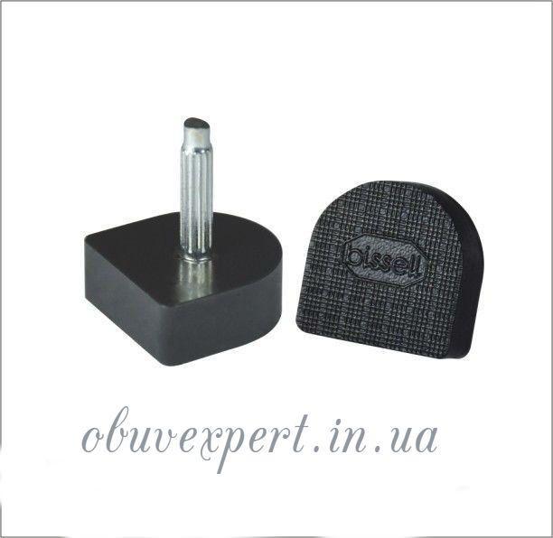 Набойки п/у на штыре BISSELL р.604А  (9х10 мм, шт 2,2 мм), цв.чёрный