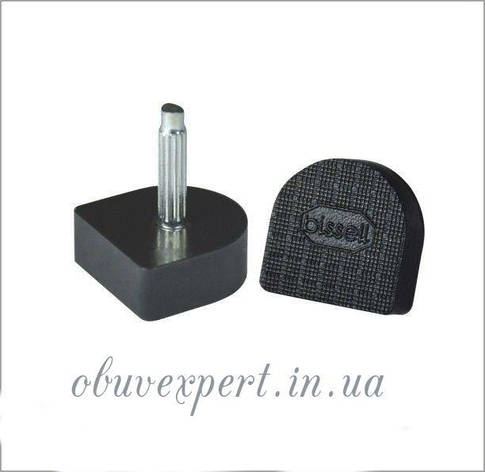Набойки п/у на штыре BISSELL р.604А  (9х10 мм, шт 2,2 мм), цв.чёрный, фото 2
