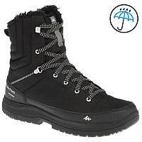 Ботинки реплика мужские высокие черные водонепроницаемые для туризма и  города Quechua - Arpenaz c4b11c93e0cd1