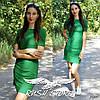 Прямое летнее платье с коротким рукавом