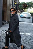 Женское утепленное пальто из шерсти