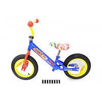 Беговел SF 171203\17201 стальная рама, катафоты, колеса 12, велобег, байк, велосипед