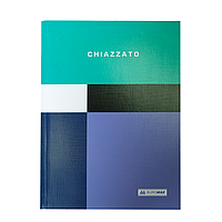 Блокнот CHIAZZATO, А-5, 80л., клетка, интегральнная обложка, бирюзовый