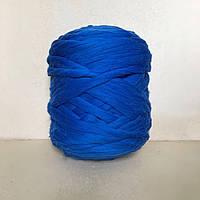 Тодстая пряжа из шерсти мериноса синий  21 микрон 100% шерсть